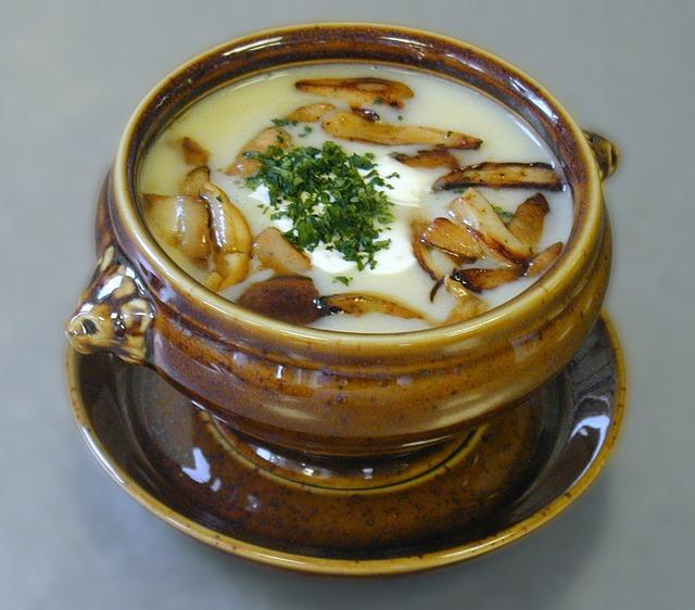 polévka z hub
