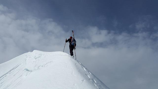lyžař - horolezec