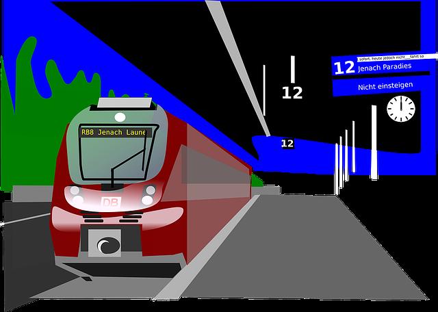 obrázek vlaku na nástupišti
