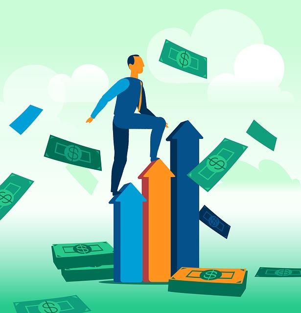 bohatství, peníze, vzestup