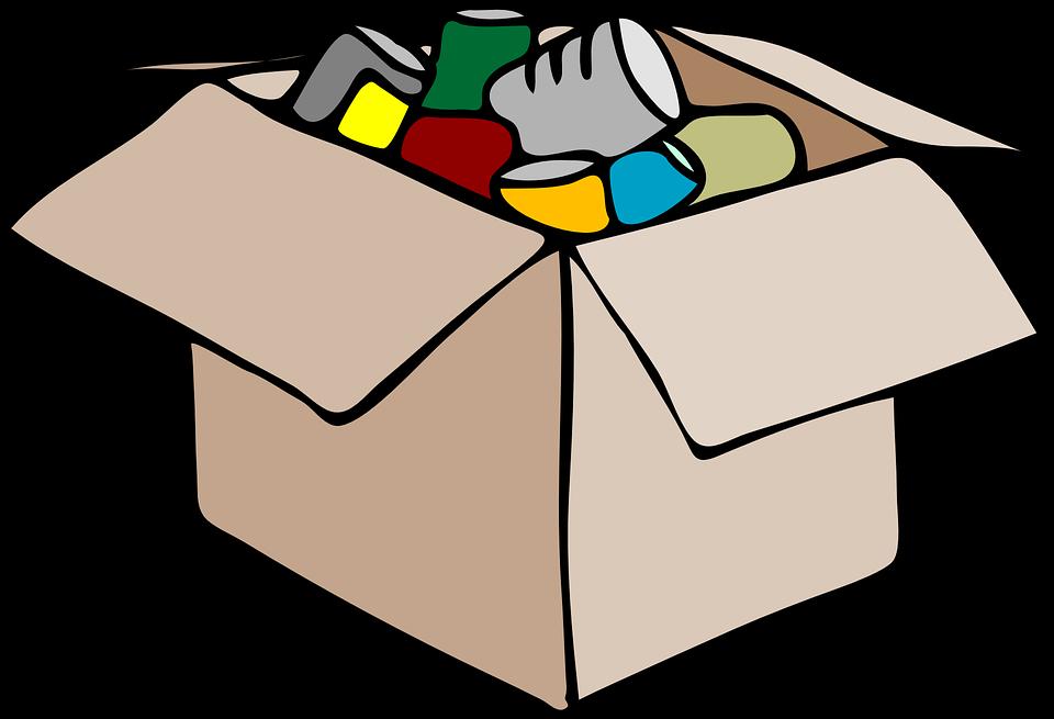 krabice plná věcí